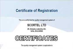 The certificates of Scortel Ltd.